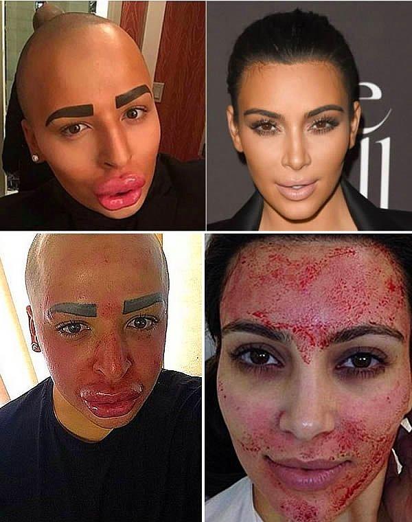 Kim Kardashian hayranı bu adam..