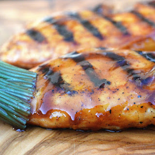 Honey Bourbon BBQ Grilled Chicken.