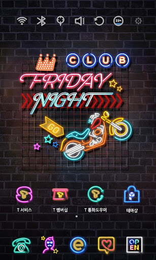Friday Night Neon Theme