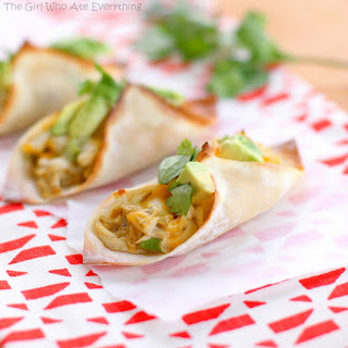 Chicken Verde Wonton Tacos