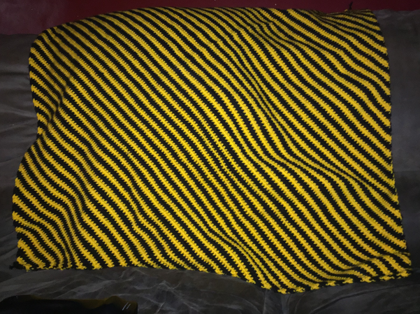 - 0724 130x80cm Diagonal Stripe Throw Blanket Crochet Pattern