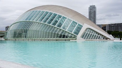 Valencia-City-of-Arts-Sciences2-1.jpg - The Opera House at the City of Arts and Sciences (Ciudad de las Artes y de las Ciencias) in Valencia, Spain.