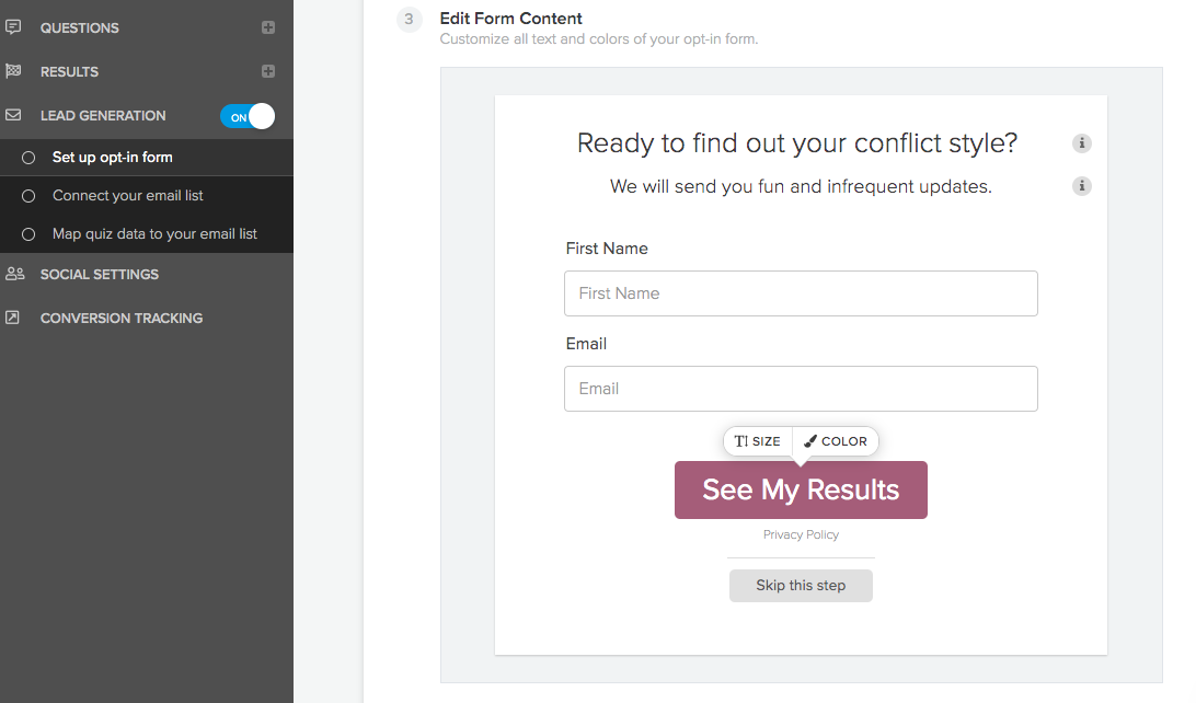 conflict management style quiz opt-in