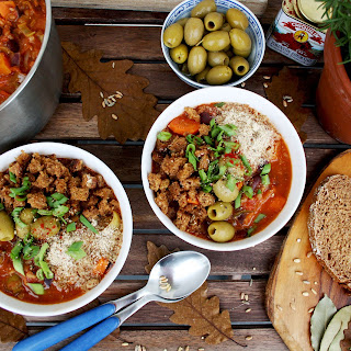 Vegan Grain Stew with Sweet Potatoes, Hazelnuts and Crispy Bread Crumbs