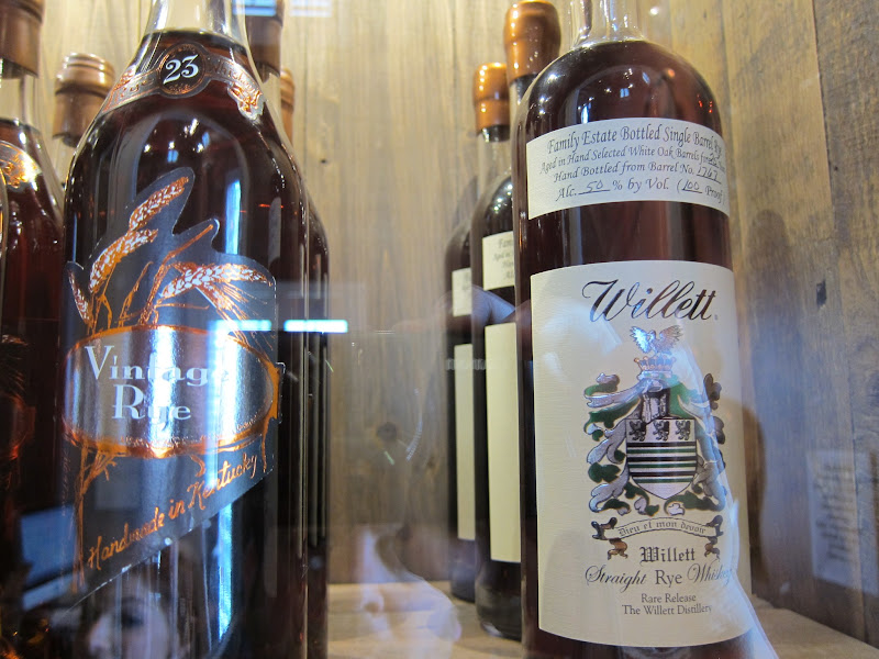 Photo: The good stuff. Rare Willett Whiskey and Vintage Rye fromKentucky Bourbon Distillers- Photo by Geoff Kleinman http://www.DrinkSpirits.com