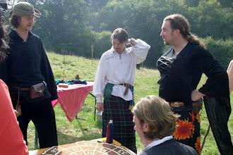 Photo: Don, Maglor, Esmeralda und (sitzend) Dimitri am Roulette.