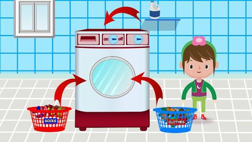 Code Triche Laver et repasser le linge: enfants jeu de lessive APK MOD screenshots 3