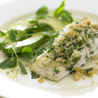 Baked Fish with Crunchy Nut Crust