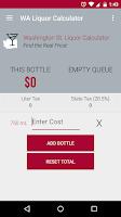 Screenshot of WA State Liquor Calculator