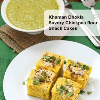 Chickpea flour Snack Cakes - Khaman Dhokla