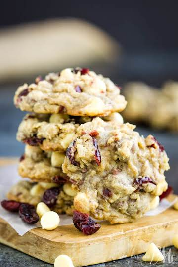 Texas Ranger Cookies with Cranberries + tons of #cookie baking tips from Call Me PMc blog!