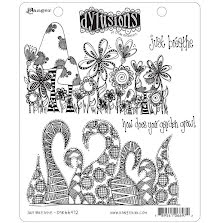 Dylusions Cling Stamps 8.5X7 - Just Breathe