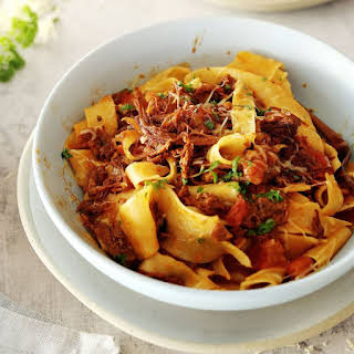Pappardelle with Leftover Beef Ragu.