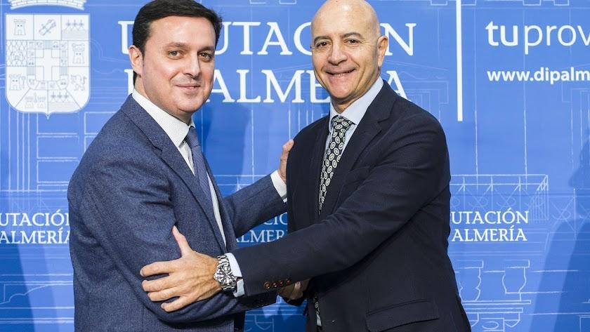 Javier Aureliano García con Diego Martínez Cano