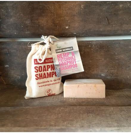 Hemp & Patchouli Soapnut Schampotvål, 90 gram