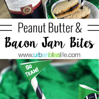 Peanut Butter and Boozy Bacon Jam Bites.