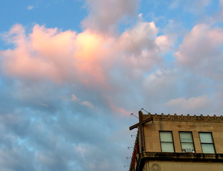 Photo: Clouds, Cross, 14th Street #iphone #iphoneography #photography