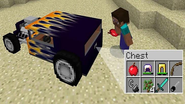 Hot-rod race addon Minecraft PE screenshot
