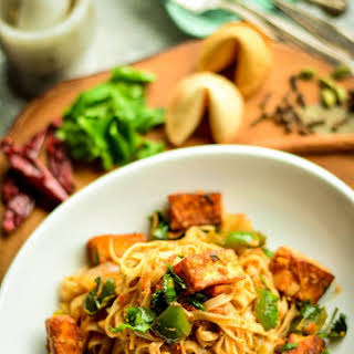Paneer Curry Noodles.