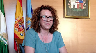 La alcaldesa  del municipio garrruchero , María López.
