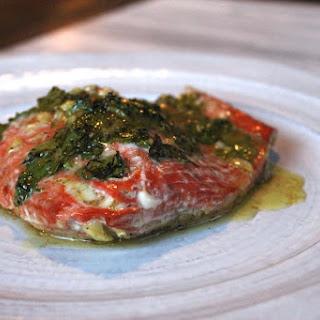 Cilantro Lime baked Salmon with Mango
