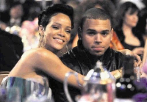 CALM BEFORE THE STORM: Rihanna is said to have got engaged to Chris Brown shortly after she was left black and blue. 17/05/09. © Unknown.