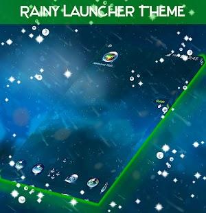Rainy Launcher Téma - náhled