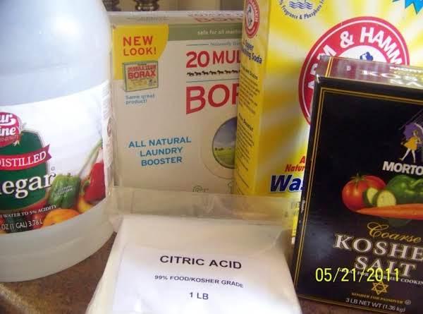 Homemade Dishwasher Powder Detergent Recipe