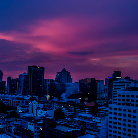 After sunset in BKK by Aung Kyaw Soe - Landscapes Sunsets & Sunrises (  )