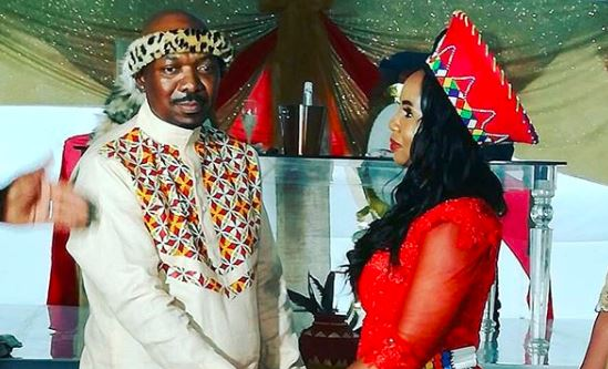 Menzi and Sikelelwa Ngubane on their wedding day.