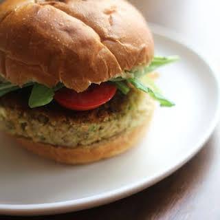Hummus and Mint Veggie Burgers.