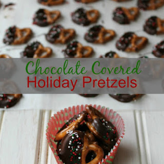 Chocolate Covered Holiday Pretzels
