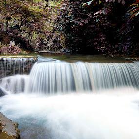 Lingahara waterfall by Hendrik Cuaca - Landscapes Waterscapes