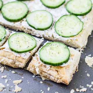 Cucumber Sandwiches with Dill Cream Cheese.