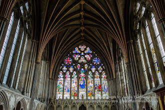 Photo: Exeter Cathedral - stained glass and ceiling - Lady Chapel. Captured @ Exeter, Devon, England, United Kingdom
