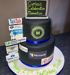 Mando 21st birthday corporate cake