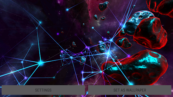 Screenshot For Particle Plexus Sci Fi 3D Live Wallpaper In United States Play Store