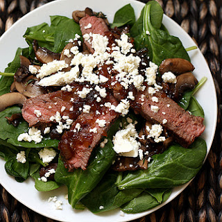 Steak Salad with Caramelized Onion Vinaigrette