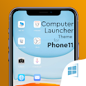 Phone 11 i theme For Computer Launcher icon