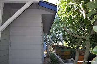 Photo: Ad Triangulum geometric symbol on soffit enclouser to keep the organic bees happy.