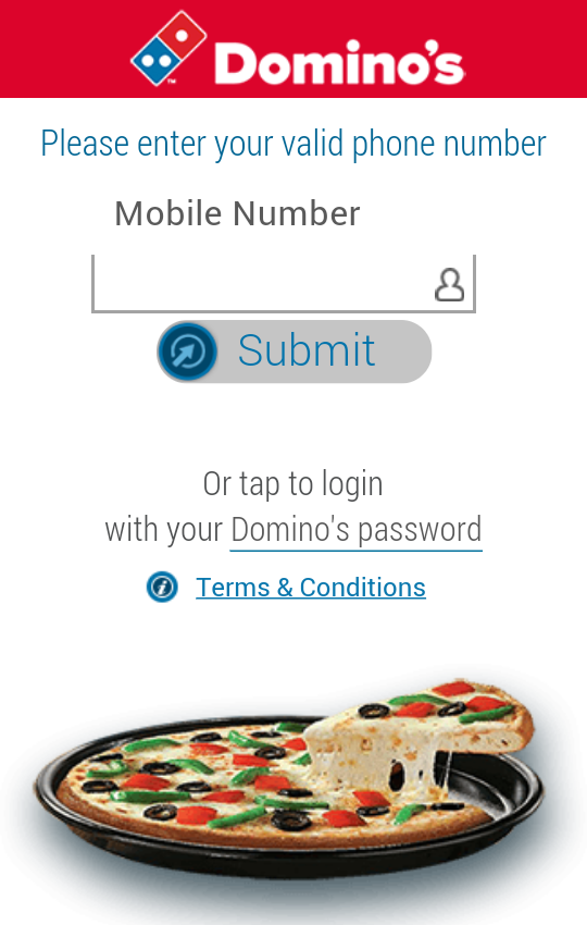 Domino's Pizza India- screenshot