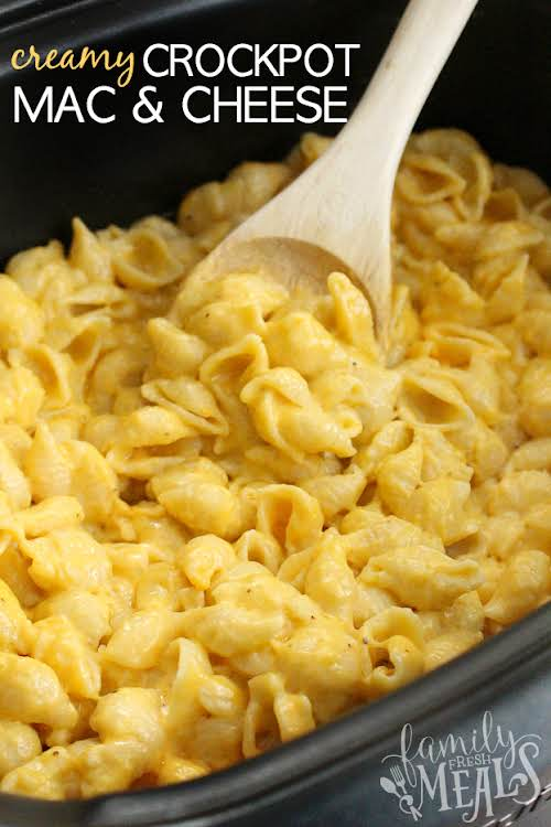 Click Here for Recipe: The Best Creamy Crockpot Mac and Cheese Oh...