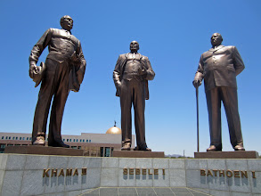 Photo: The three important men of Botswana