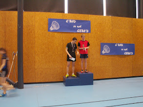 Photo: Simple Hommes Cadets 1er Gaspard Hey (CEBA) 2e Quentin Werner MBC)