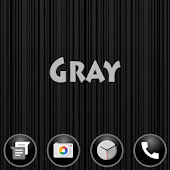 Vertical Stripes Gray XZ Theme
