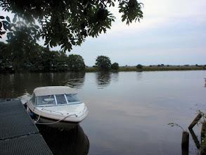 Photo: die Weser am CP eines Rudervereins nahe Nienburg