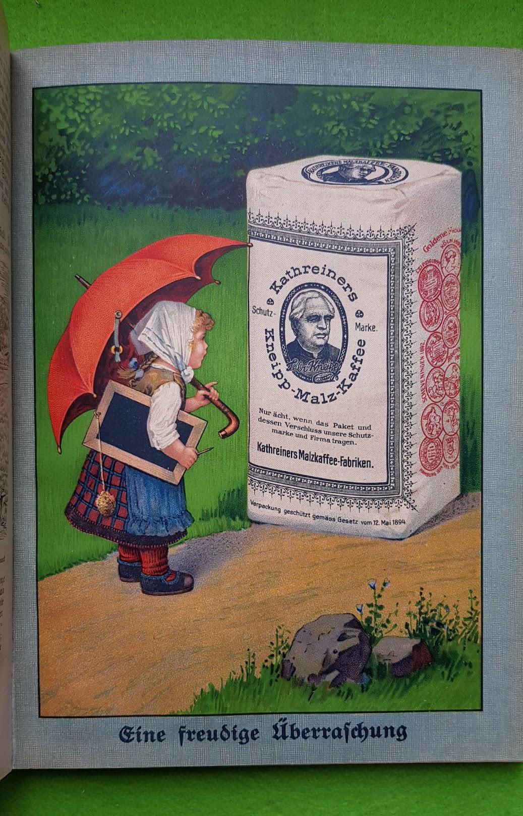 Großer Volkskalender des Lahrer hinkenden Boten - 1914 - Werbung Kathreiner Kneipp-Malz-Kaffee