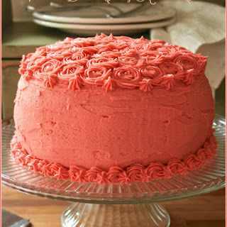 Victorian Black Cherry Almond Cake.