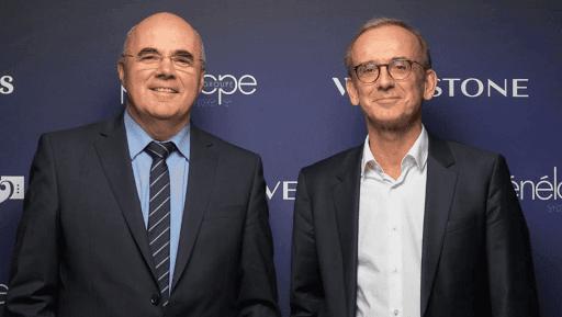 André Coisne, Directeur Général d'Orange Bank et Bertrand Corbeau, Directeur Général Adjoint du Crédit Agricole SA au lancement du Club Les Echos Prospective