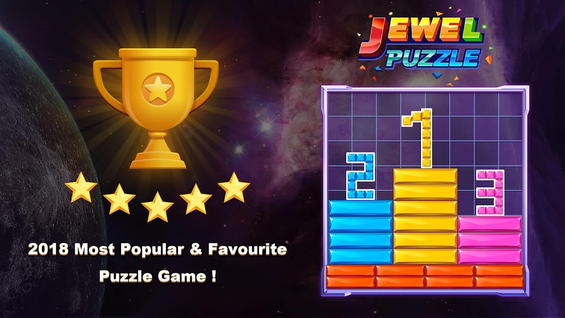 Jewel Sliding™ - Falling Puzzle & Slide Puzzle Android App Screenshot